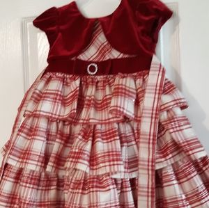 Join Michelle 24mnts 2t red plaid holiday dress